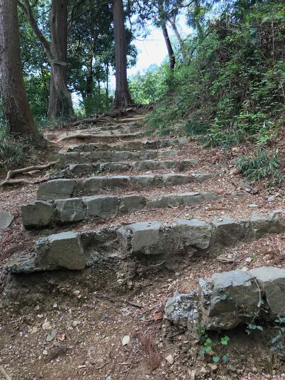 八王子城 登り道