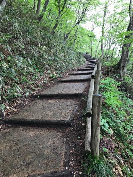 村上城跡 登り道