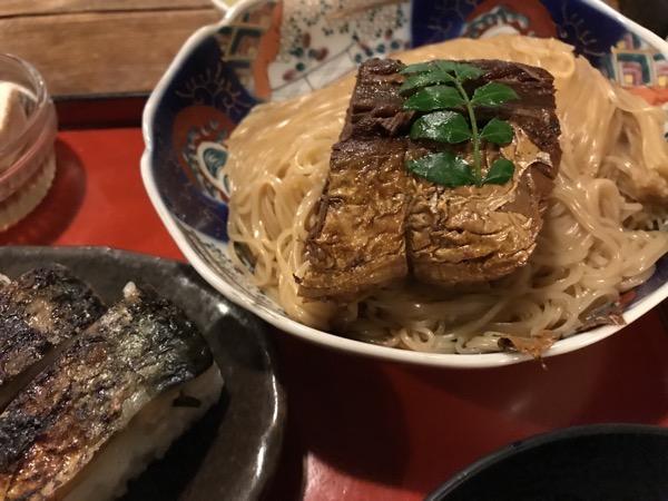 焼鯖ソーメンと焼鯖寿司