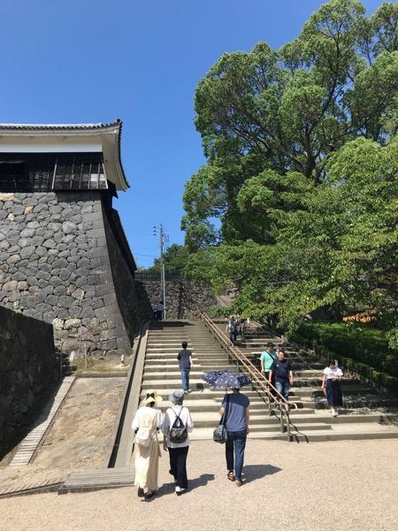松江城 階段