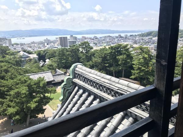 松江城 最上階からの眺望