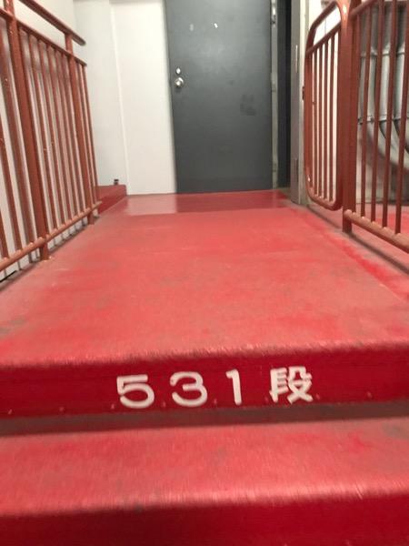 東京タワー 531段目