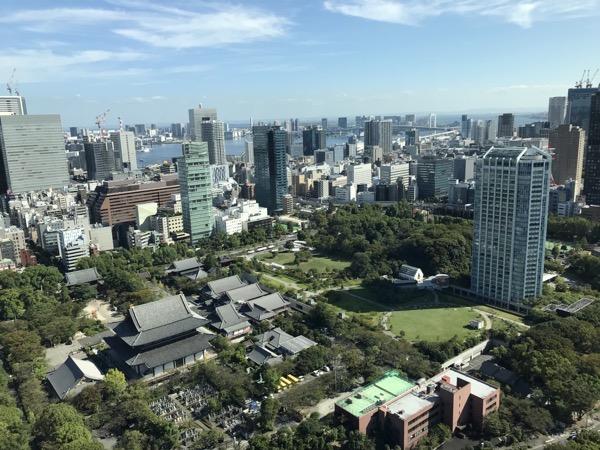 東京タワーからの眺望