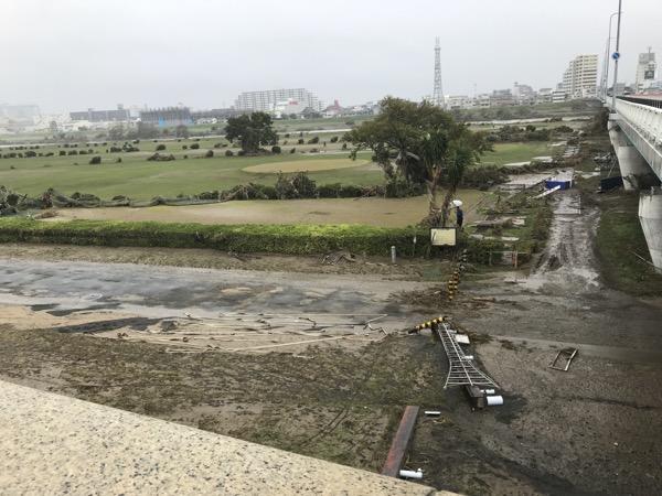 2019年10月14日の多摩川