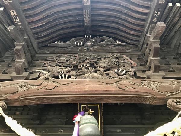 女躰神社 拝殿彫刻