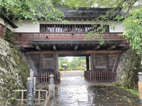 高島城 冠木門