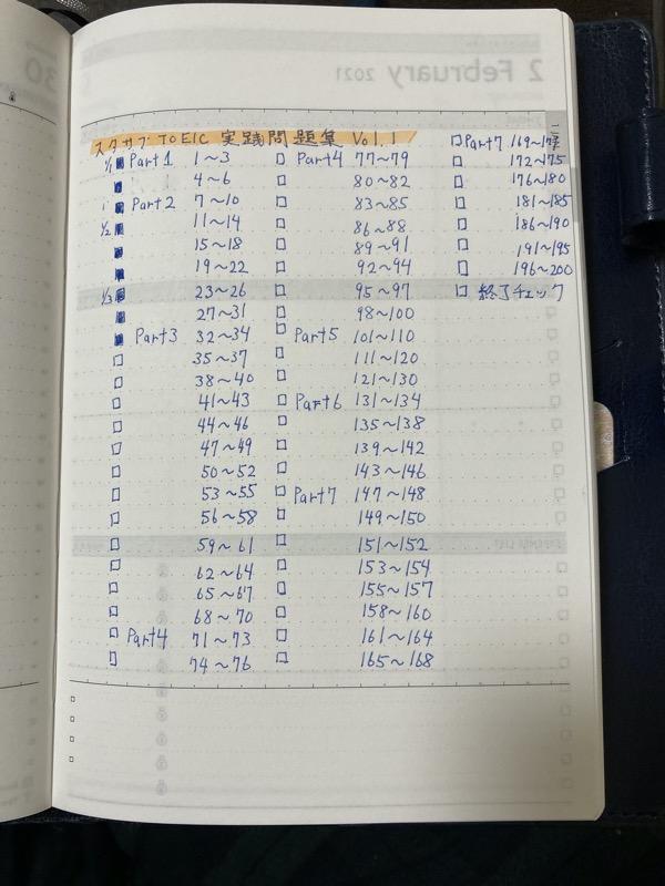 スタサプ 進捗チェックリスト