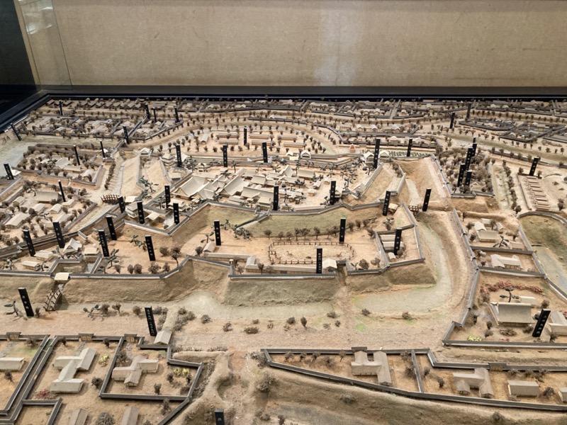 久保田城の復元模型